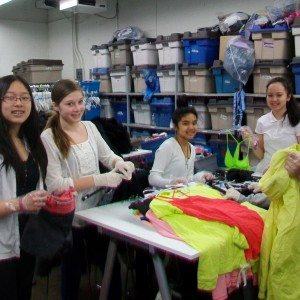 Student volunteers from Holy Cross School in GLOW